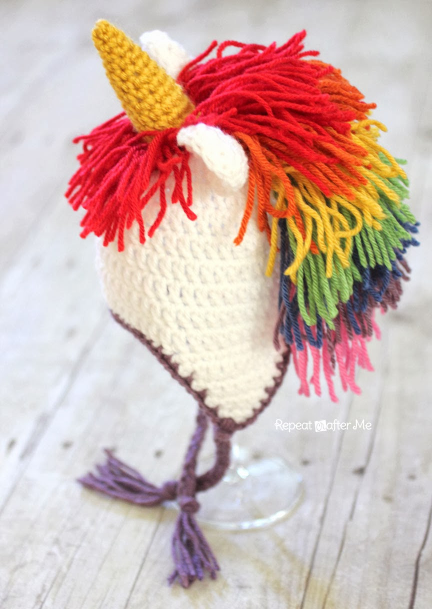 Crochet Unicorn Hat Pattern Repeat Crafter Me