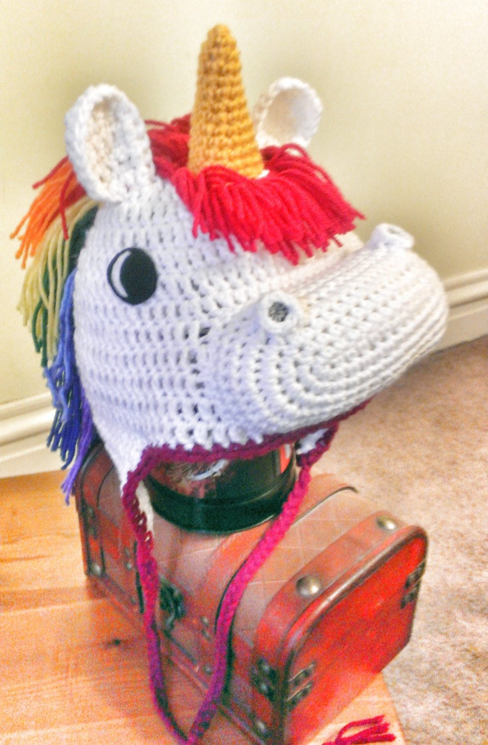 Crochet Unicorn Hat Unique Crocheted Unicorn Hat by thecrochetdisplay On Etsy Of Delightful 44 Images Crochet Unicorn Hat