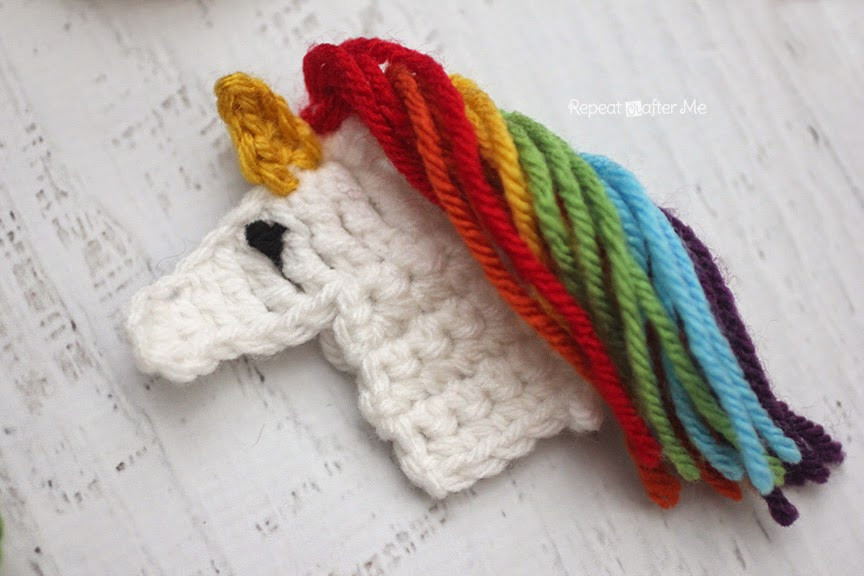 Crochet Unicorn Lovely Repeat Crafter Me U is for Unicorn Crochet Unicorn Applique Of Crochet Unicorn New the Cutest Collection Unicorn Crochet Patterns