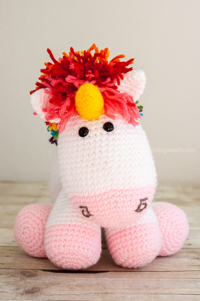 Crochet Unicorn New Rainbow Cuddles Crochet Unicorn Pattern E Dog Woof Of Charming 42 Pics Crochet Unicorn