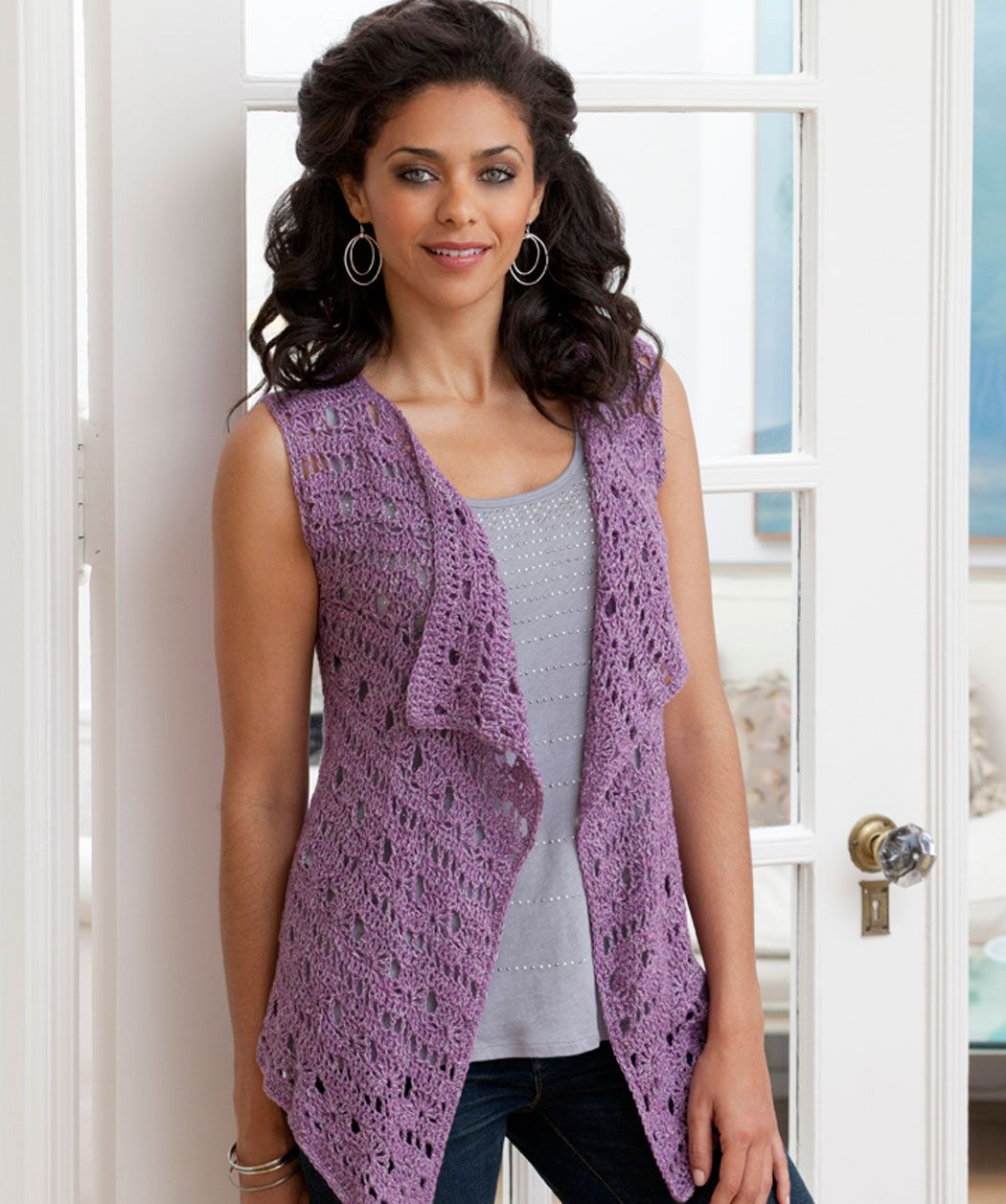 Drapey Unstructured Crochet Vest free pattern