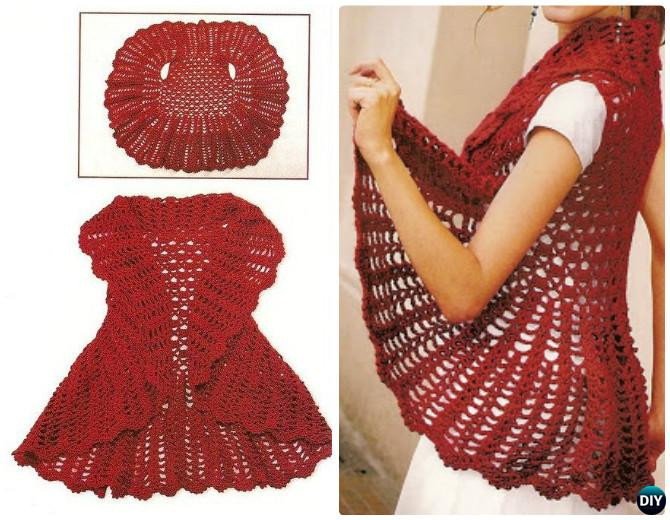 Crochet Vest Pattern Fresh Diy Crochet Circular Vest Sweater Jacket Free Patterns Of Lovely 47 Models Crochet Vest Pattern