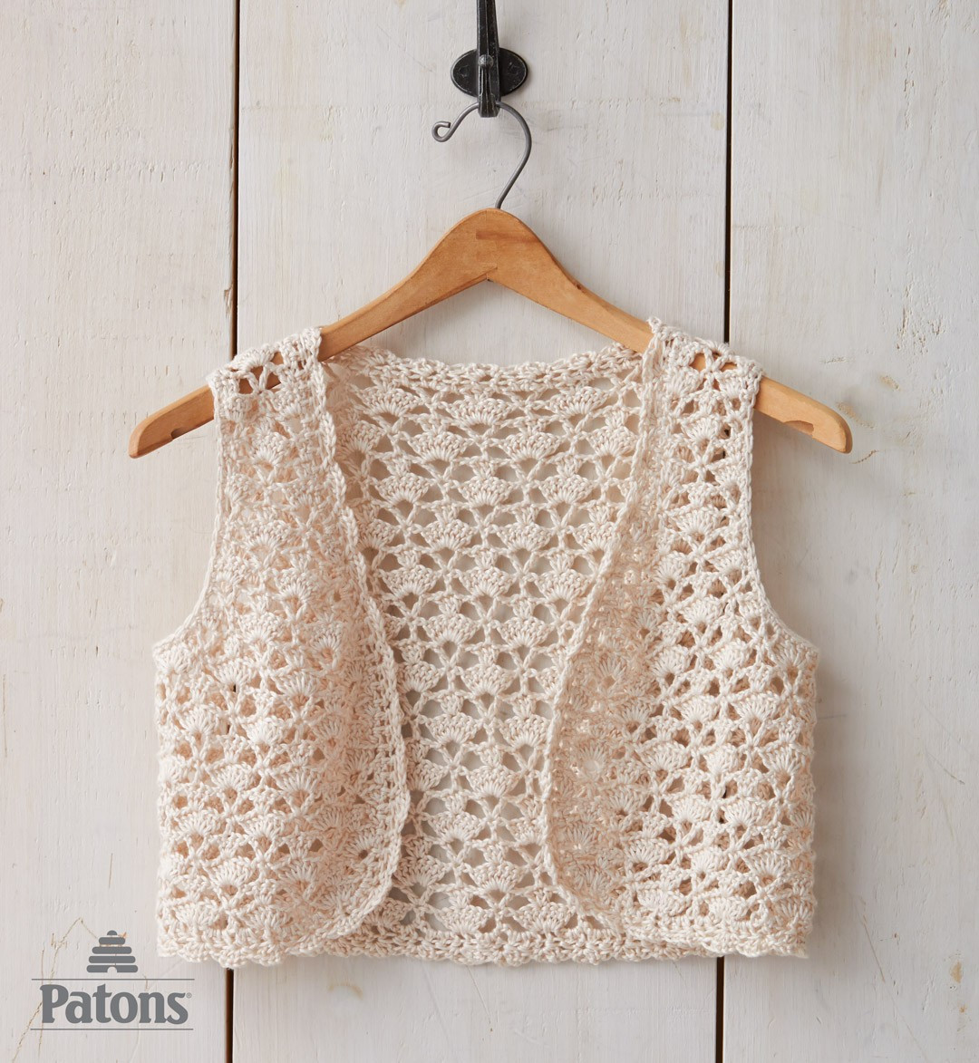 Crochet Vest Pattern New Patons Seashell Crochet Vest Crochet Pattern Of Lovely 47 Models Crochet Vest Pattern