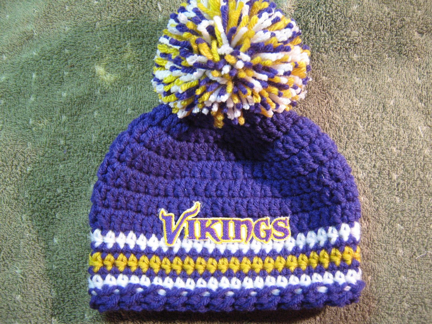 Crochet Viking Hat Awesome Crochet Beanie Baby Hat Minnesota Vikings Colors Embroidered Of Fresh 39 Pics Crochet Viking Hat
