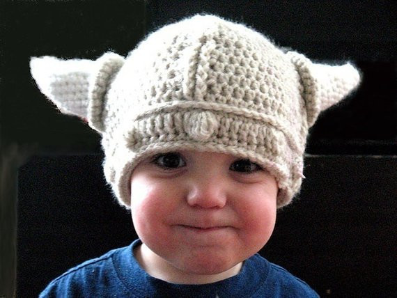 Items similar to Crochet Viking Hat in 3 sizes Baby