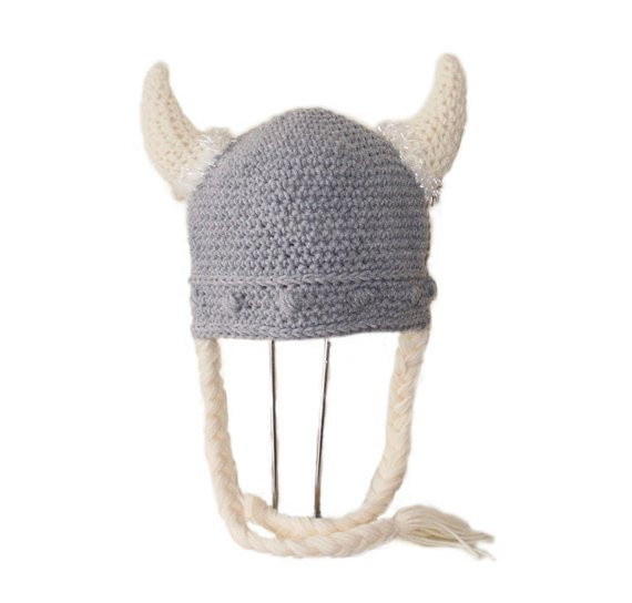 Crochet Pattern PDF Viking Hat Beanie and with Braids All