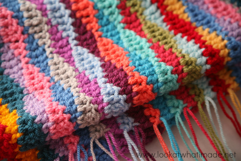 Crochet Wave Blanket Fresh Lazy Waves Blanket Pattern ⋆ Look at What I Made Of Beautiful 46 Ideas Crochet Wave Blanket