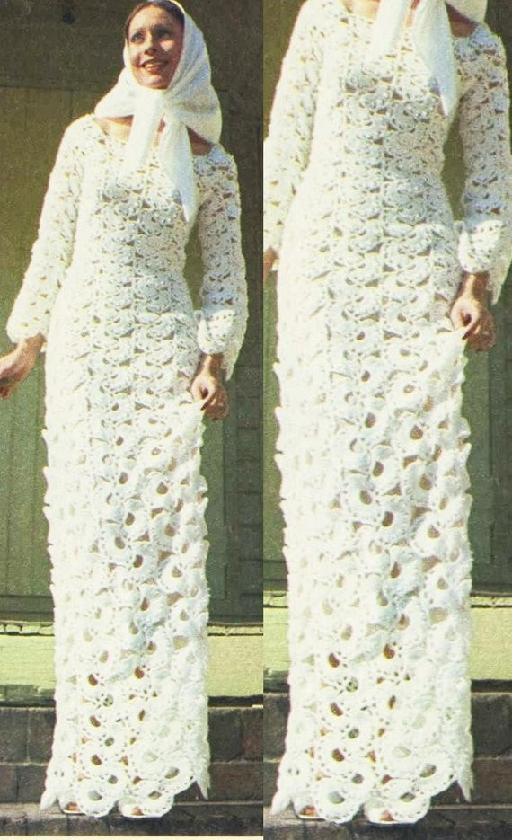 Crochet Wedding Awesome the Gallery for Vintage Crochet Wedding Dress Pattern Of Beautiful 41 Pics Crochet Wedding