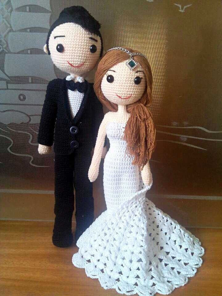 Crochet Wedding Gift Beautiful 1000 Images About Crochet Dolls and toys On Pinterest Of Incredible 46 Images Crochet Wedding Gift