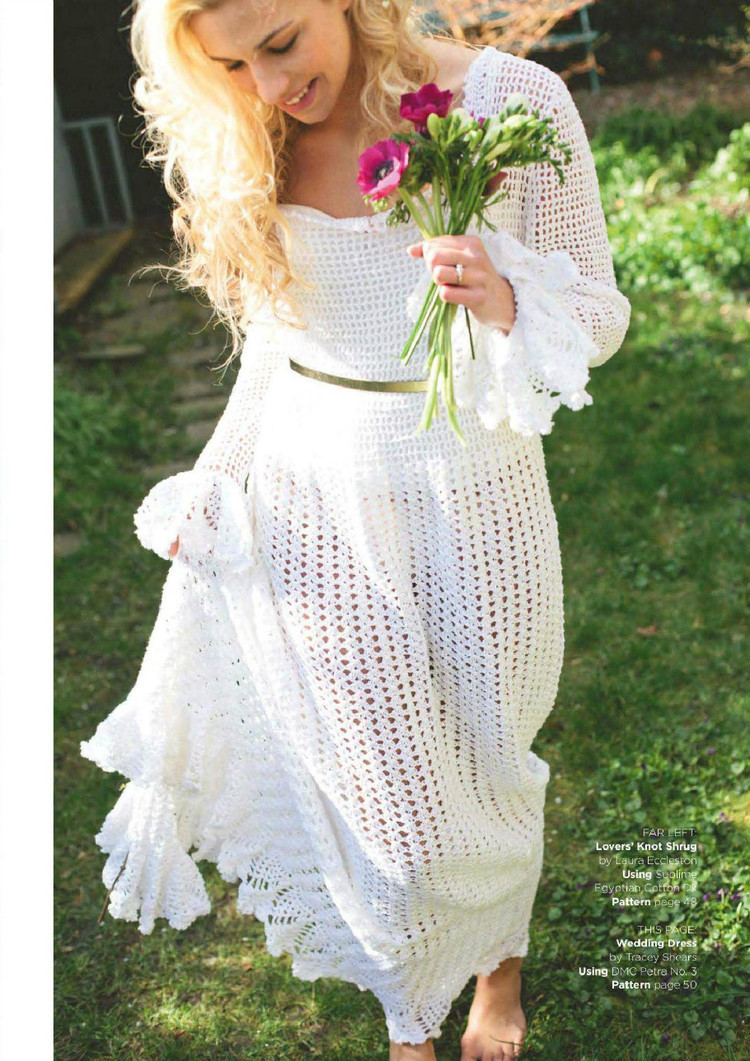 Retro Wedding Dress Crochet Pattern ⋆ Crochet Kingdom