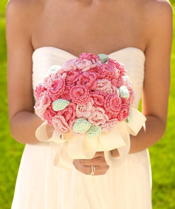 Crochet Wedding Luxury Crochet Rose Daisy Wedding Bouquets Ideas Womenitems Of Beautiful 41 Pics Crochet Wedding
