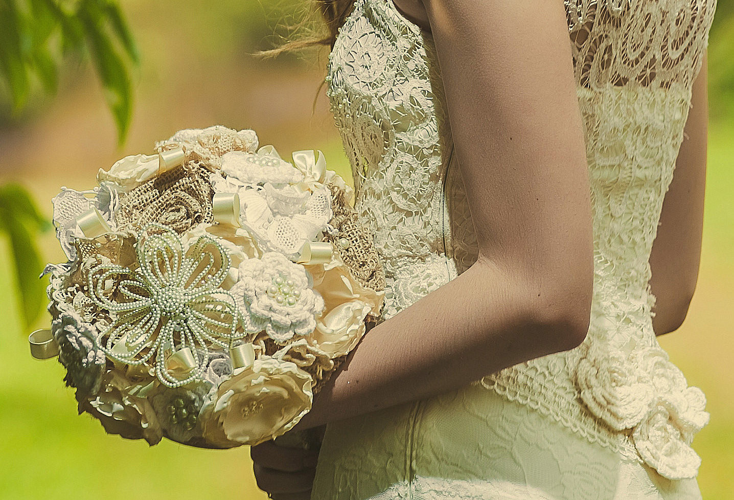 Crochet Wedding New Crochet Lace and Bauble Wedding Bouquet Of Beautiful 41 Pics Crochet Wedding