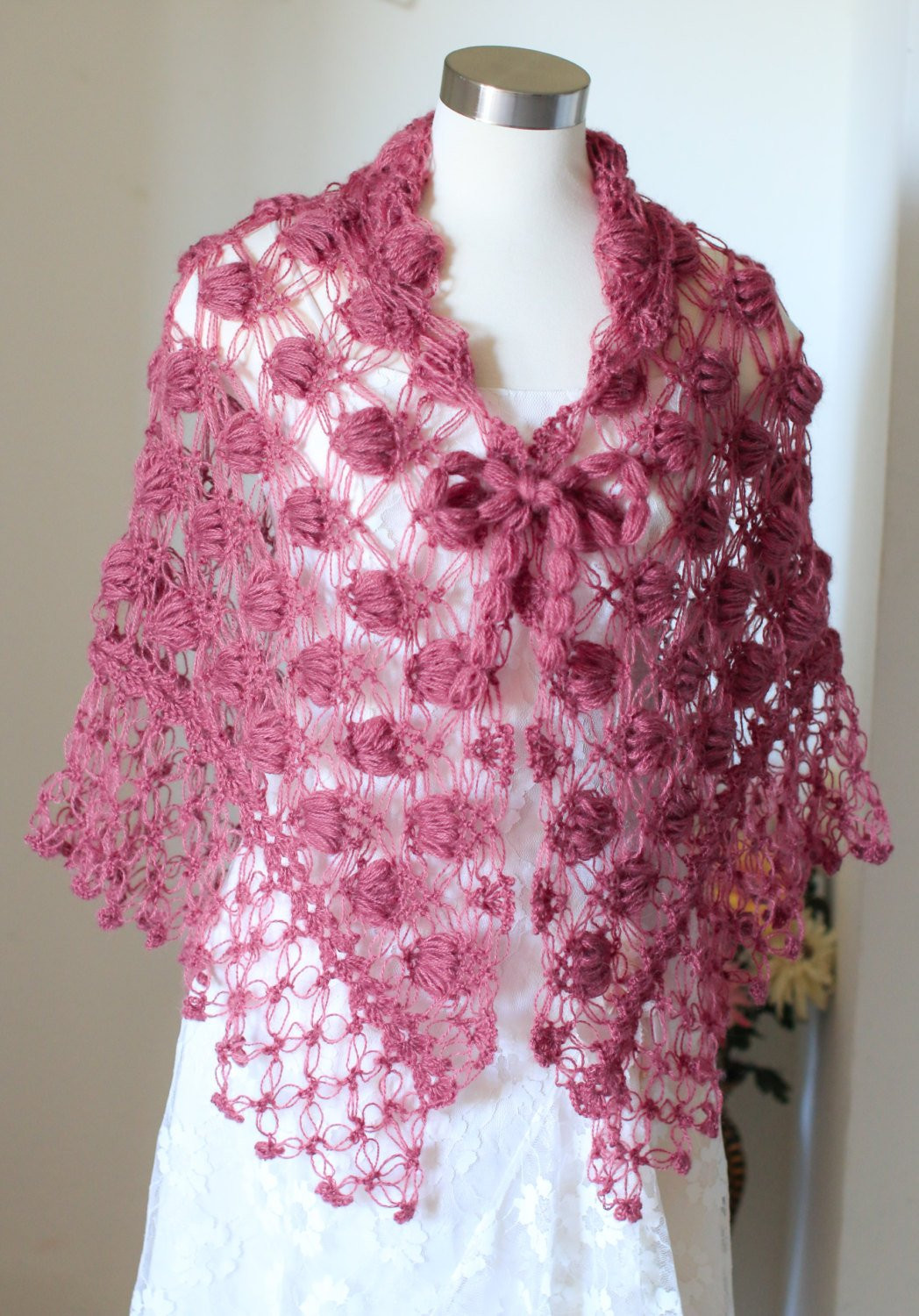 Shawl Crochet Shawl Bridal Shawl Bolero Wrap Shrug