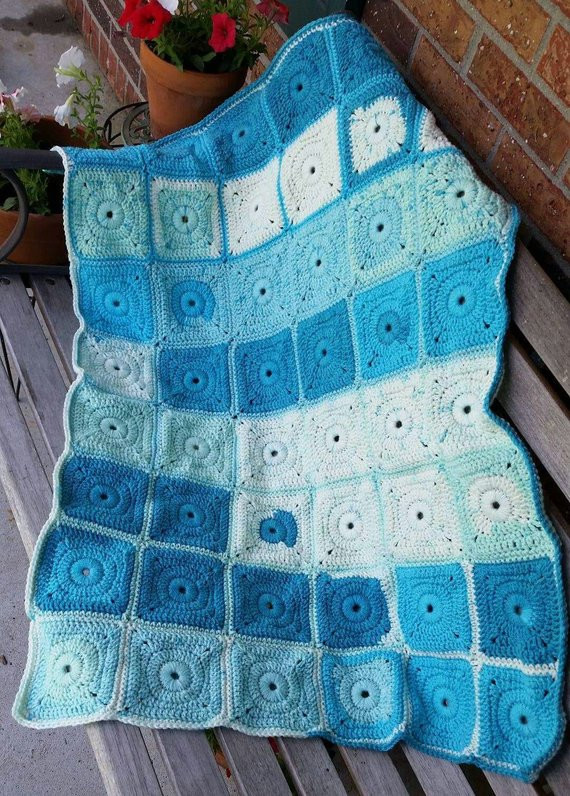 Weighted Crochet Blanket Granny Square Weighted Anxiety