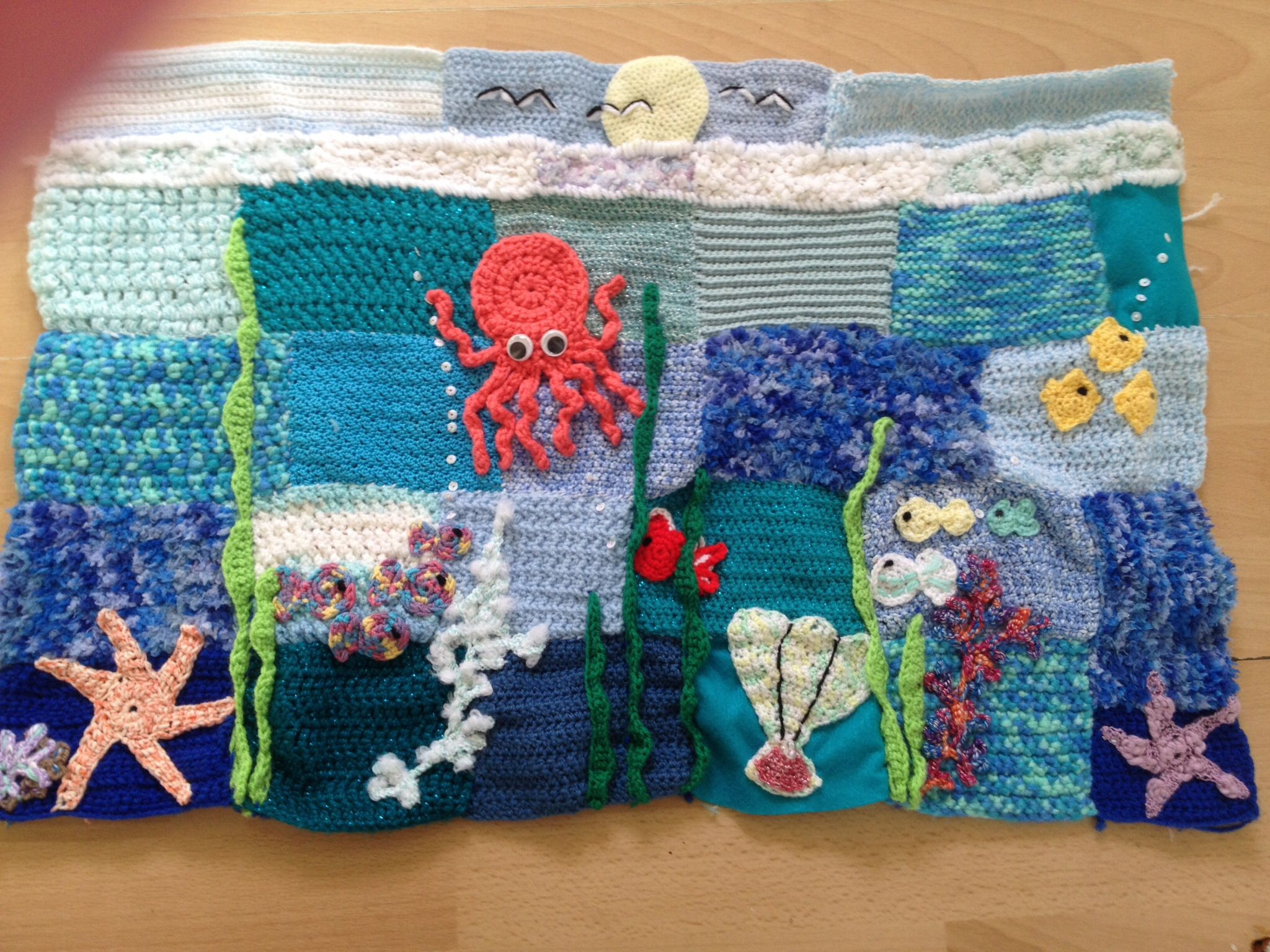 Crochet Weighted Blanket New Under the Sea Handmade Crocheted Sensory Weighted Of Great 47 Models Crochet Weighted Blanket