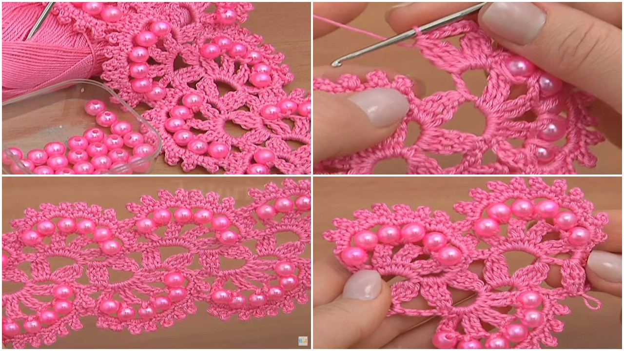 Crochet with Beads Awesome Crochet Beaded Tape Tutorial Lace Pattern Ilove Crochet Of Amazing 50 Models Crochet with Beads