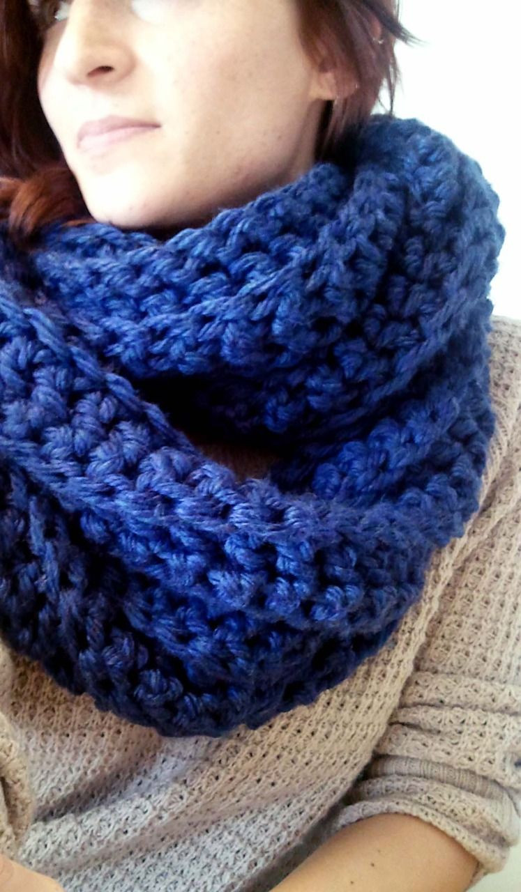 Crochet with Bulky Yarn Elegant Chunky Blue Cowl Crocheted Using Lion Brand Hometown Usa Of Lovely 43 Pics Crochet with Bulky Yarn