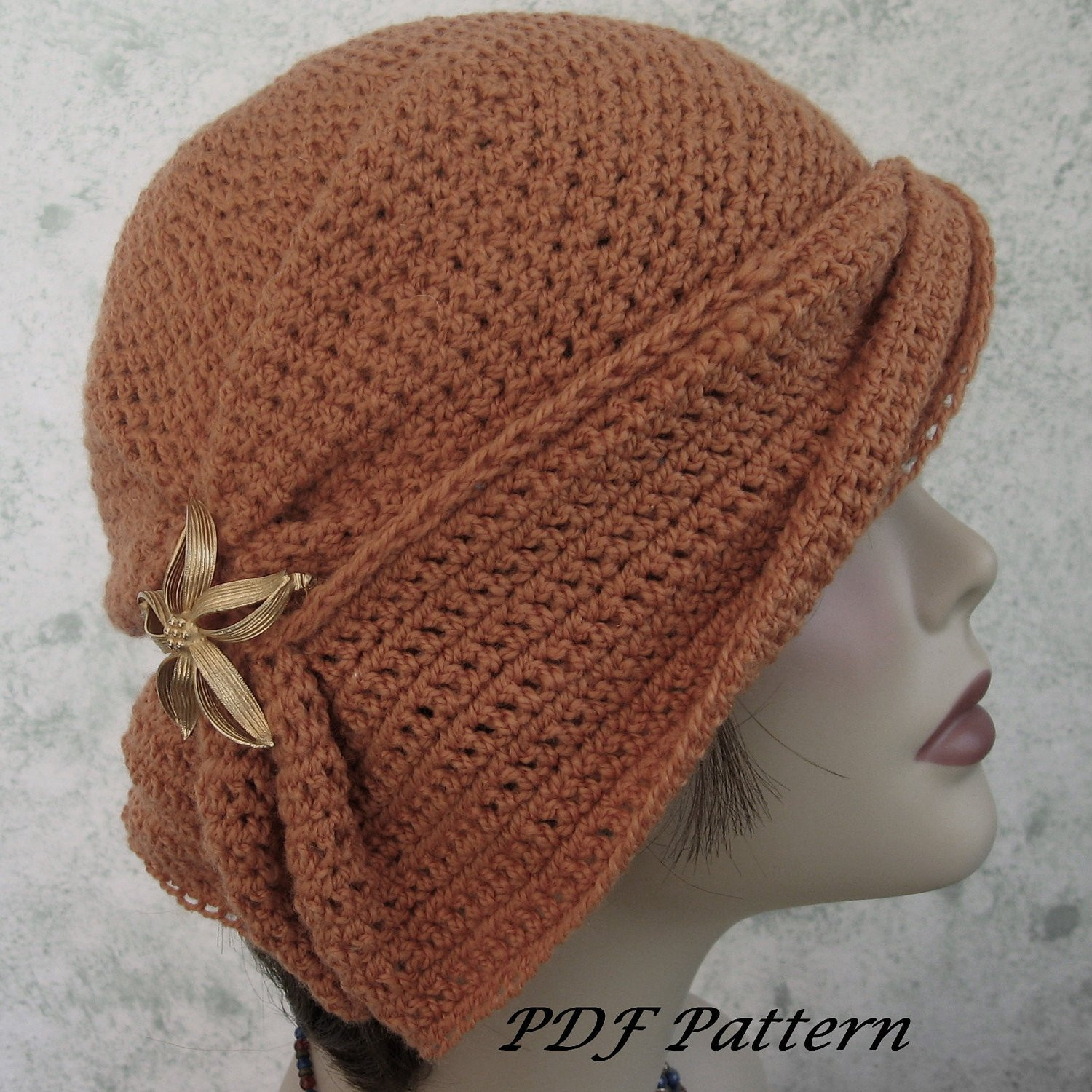 Crochet Womens Hats New Crochet Hat Pattern Womens Cloche with Side Gathers and Draped Of Brilliant 45 Models Crochet Womens Hats