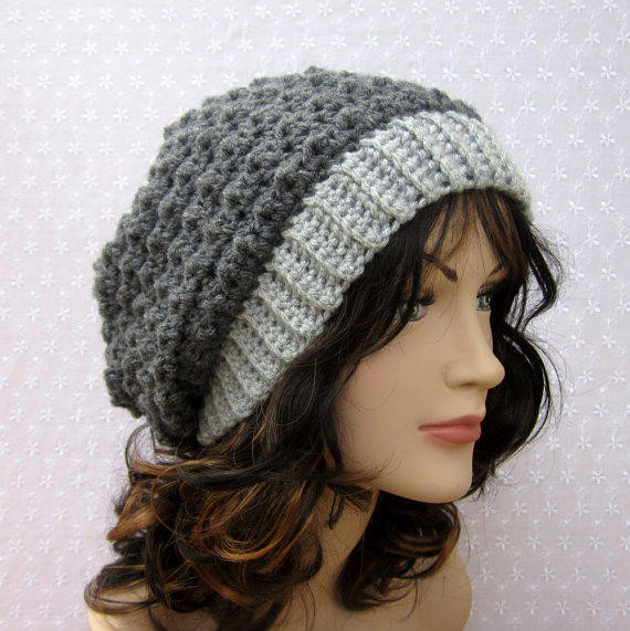 Crochet Womens Hats Unique Gray Slouchy Crochet Hat Womens Slouch From Color My World Of Brilliant 45 Models Crochet Womens Hats