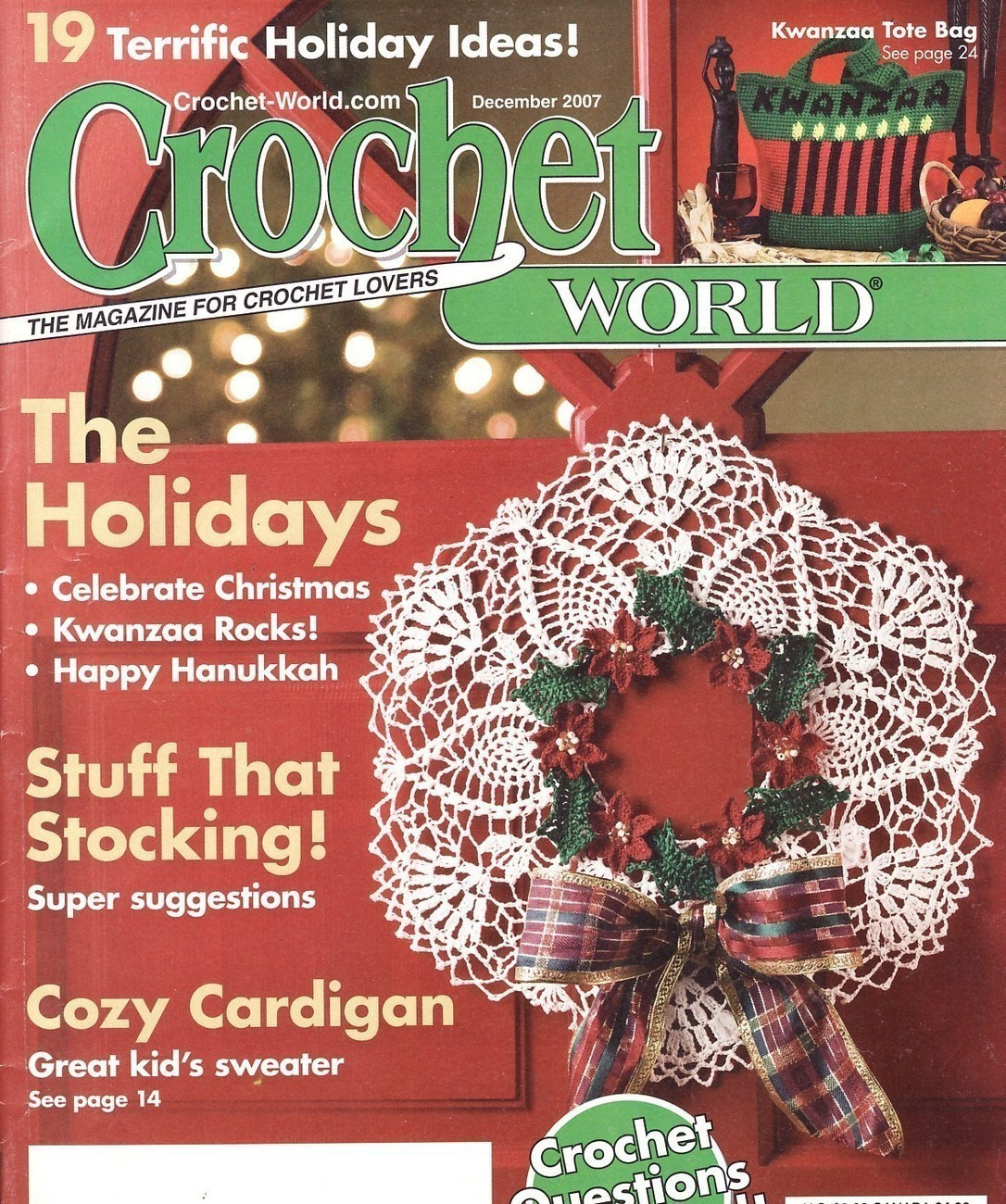 Crochet World Magazines Awesome Crochet World Magazine Back issue December 2007 Magazine Of Gorgeous 44 Pictures Crochet World Magazines