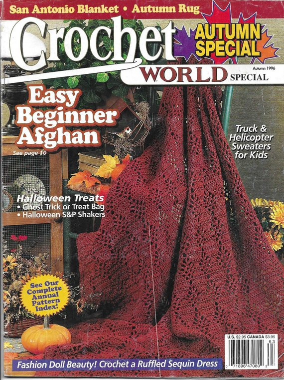 Crochet World Magazines Beautiful Crochet World Magazine Back issue Autumn Fall 1996 Of Gorgeous 44 Pictures Crochet World Magazines