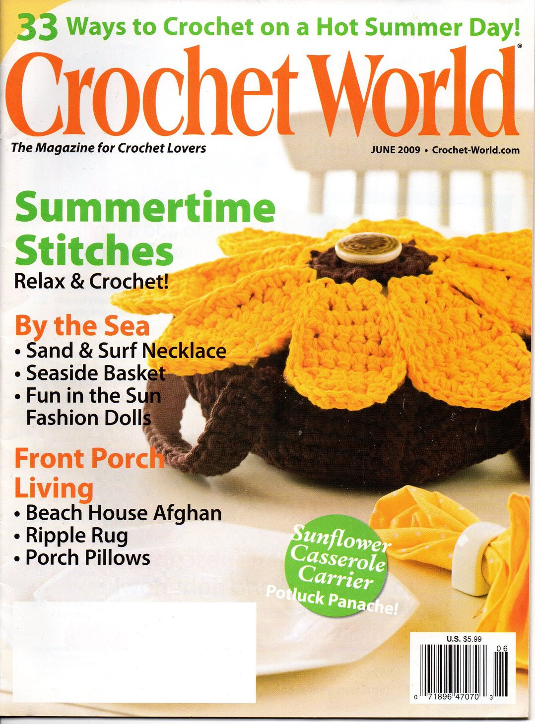 Crochet World Magazines Lovely Crochet World Magazine June 2009 Vol 32 No 3 Of Gorgeous 44 Pictures Crochet World Magazines