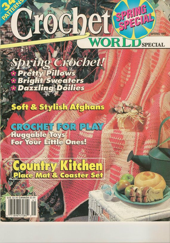 Crochet World Magazines New 1 Vintage Crochet World Magazines Spring 1994 Of Gorgeous 44 Pictures Crochet World Magazines