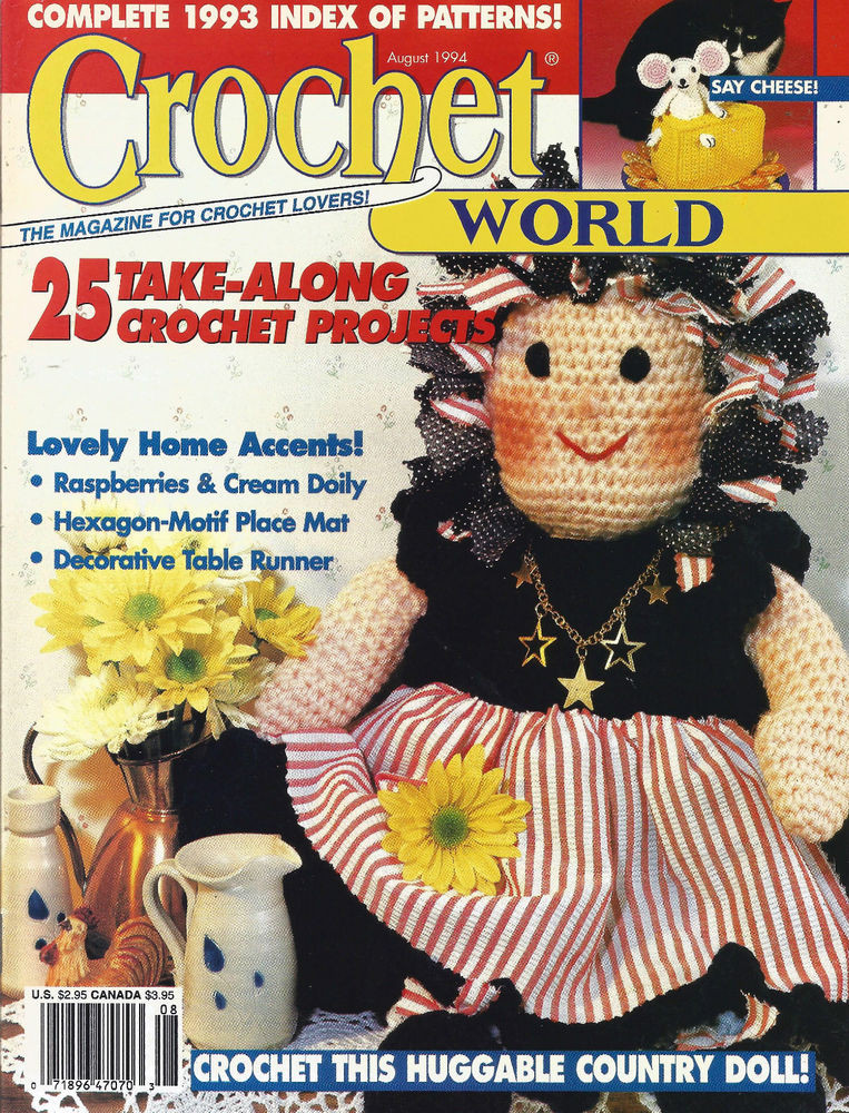 Crochet World Magazines New Crochet World Magazine August 1994 Excellent Patterns Of Gorgeous 44 Pictures Crochet World Magazines