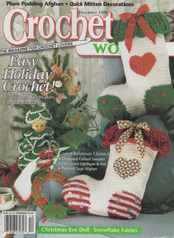 Crochet World Magazines New Crochet World Magazine December 1998 Christmas Of Gorgeous 44 Pictures Crochet World Magazines