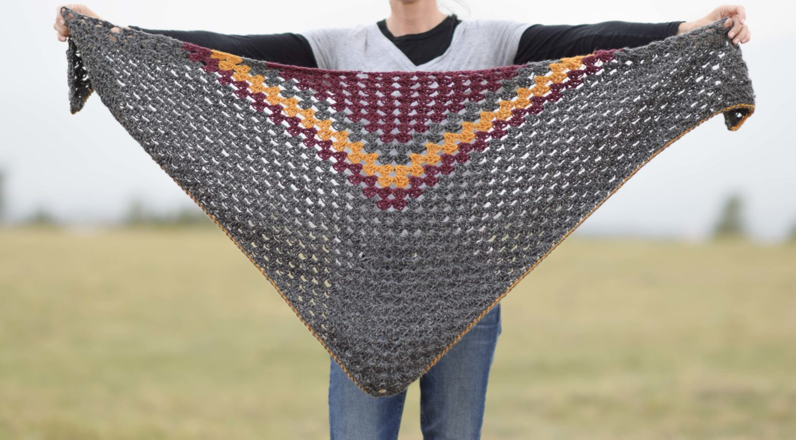 Crochet Wrap Pattern Best Of Smoky Mountains Crochet Triangle Wrap – Mama In A Stitch Of Attractive 42 Pics Crochet Wrap Pattern