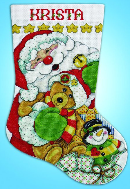 Cross Stitch Christmas Stocking Inspirational Design Works Santa Christmas Stocking Cross Stitch Kit Of New 46 Photos Cross Stitch Christmas Stocking
