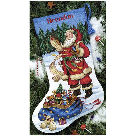 Cross Stitch Christmas Stocking Inspirational Dimensions Counted Cross Stitch Kit Checking His List Of New 46 Photos Cross Stitch Christmas Stocking