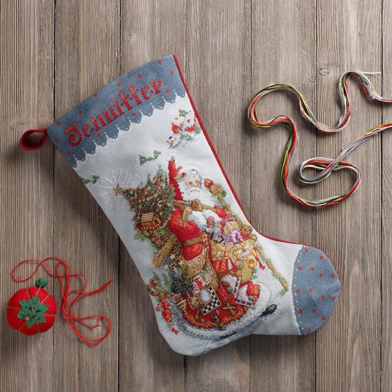 Cross Stitch Christmas Stocking Inspirational Olde World Santa Counted Cross Stitch Christmas Stocking Kit Of New 46 Photos Cross Stitch Christmas Stocking