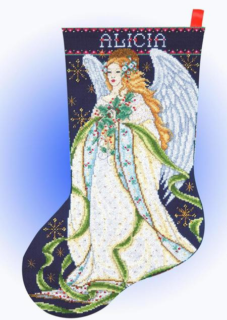 Cross Stitch Christmas Stocking Lovely Design Works Holly Angel Christmas Stocking Counted Of New 46 Photos Cross Stitch Christmas Stocking