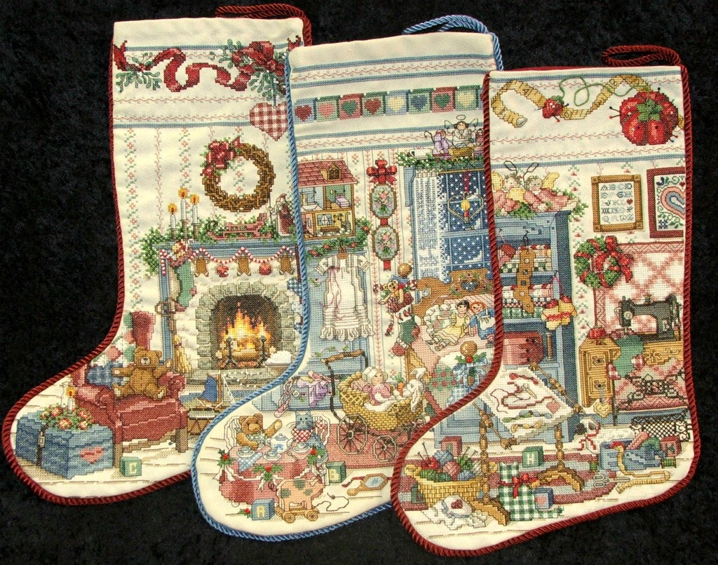Cross Stitch Christmas Stocking Unique Queen Allcrafts Just Listed Finished Cross Stitch Of New 46 Photos Cross Stitch Christmas Stocking