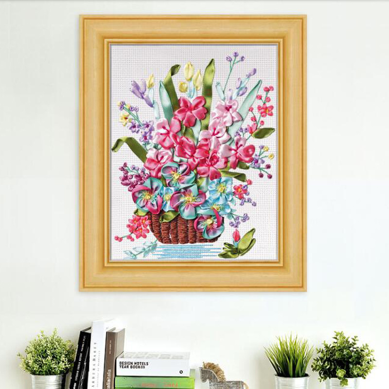 Cross Stitch Kits for Beginners Awesome Ξdiy Ribbon Embroidery for ∞ Beginner Beginner Needlework Of Gorgeous 45 Models Cross Stitch Kits for Beginners
