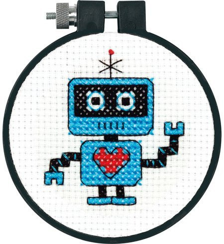 Cross Stitch Kits for Beginners Elegant Dimensions Robot Learn A Craft Beginner Cross Stitch Kit Of Gorgeous 45 Models Cross Stitch Kits for Beginners