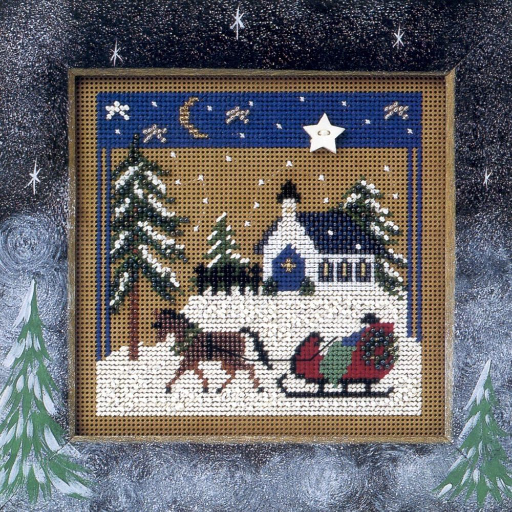Cross Stitch Kits for Beginners Elegant Sleigh Ride Cross Stitch Kit Mill Hill 2002 buttons Of Gorgeous 45 Models Cross Stitch Kits for Beginners