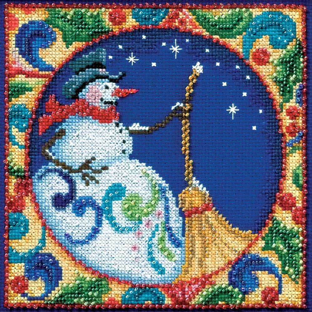 Cross Stitch Kits for Beginners Lovely Jim Shore Snowman Beaded Counted Cross Stitch Kit Of Gorgeous 45 Models Cross Stitch Kits for Beginners