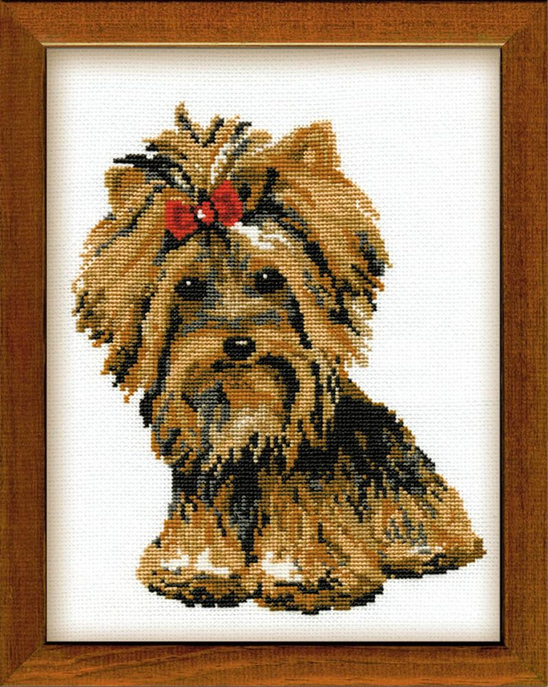 RIOLIS 825 COUNTED CROSS STITCH KIT YORKSHIRE TERRIER