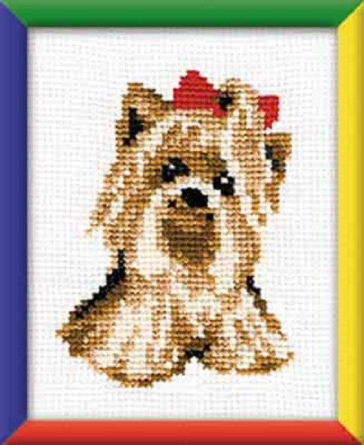 YORKIE Cross Stitch Kit from Riolis Suitable for kids or