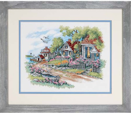 Cross Stitch Kits Fresh Dimensions Cottages by the Sea Stamped Cross Stitch Kit Of Marvelous 49 Images Cross Stitch Kits