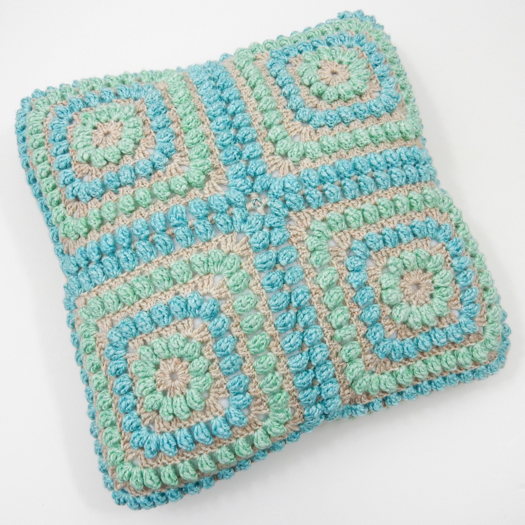 Squishy Popcorn Cushion Free Crochet Pattern