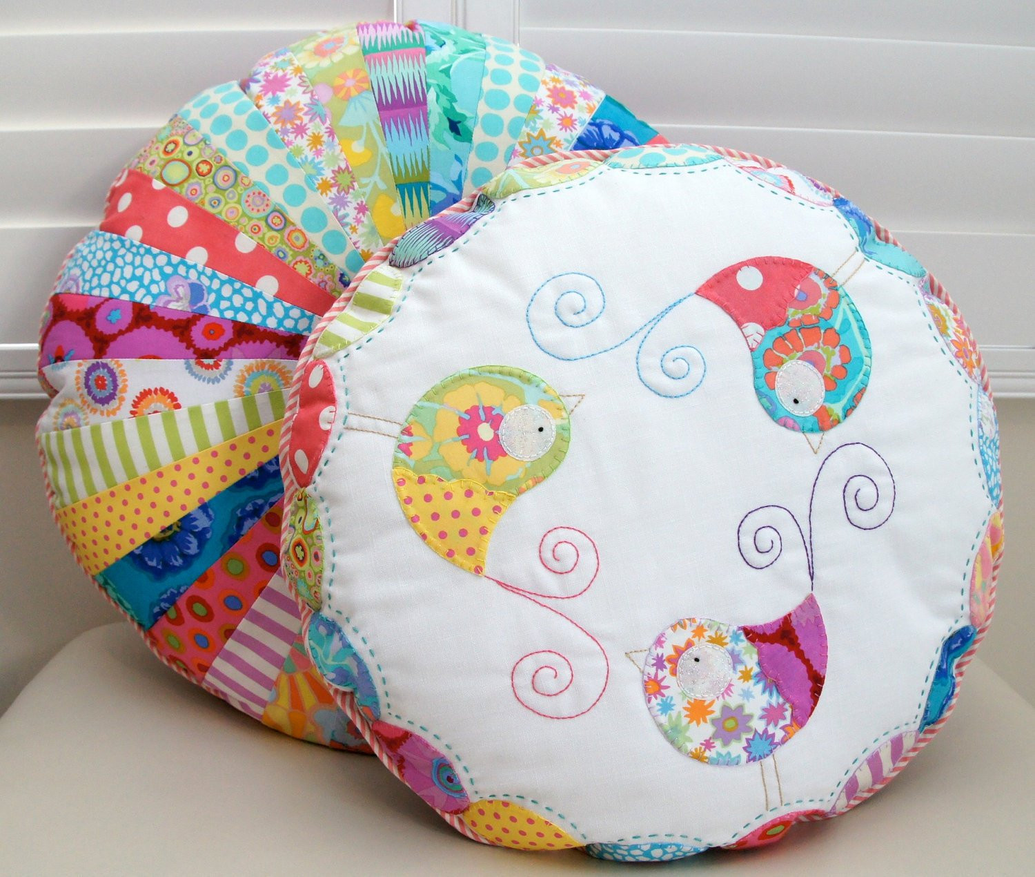 round cushion stack pattern and template
