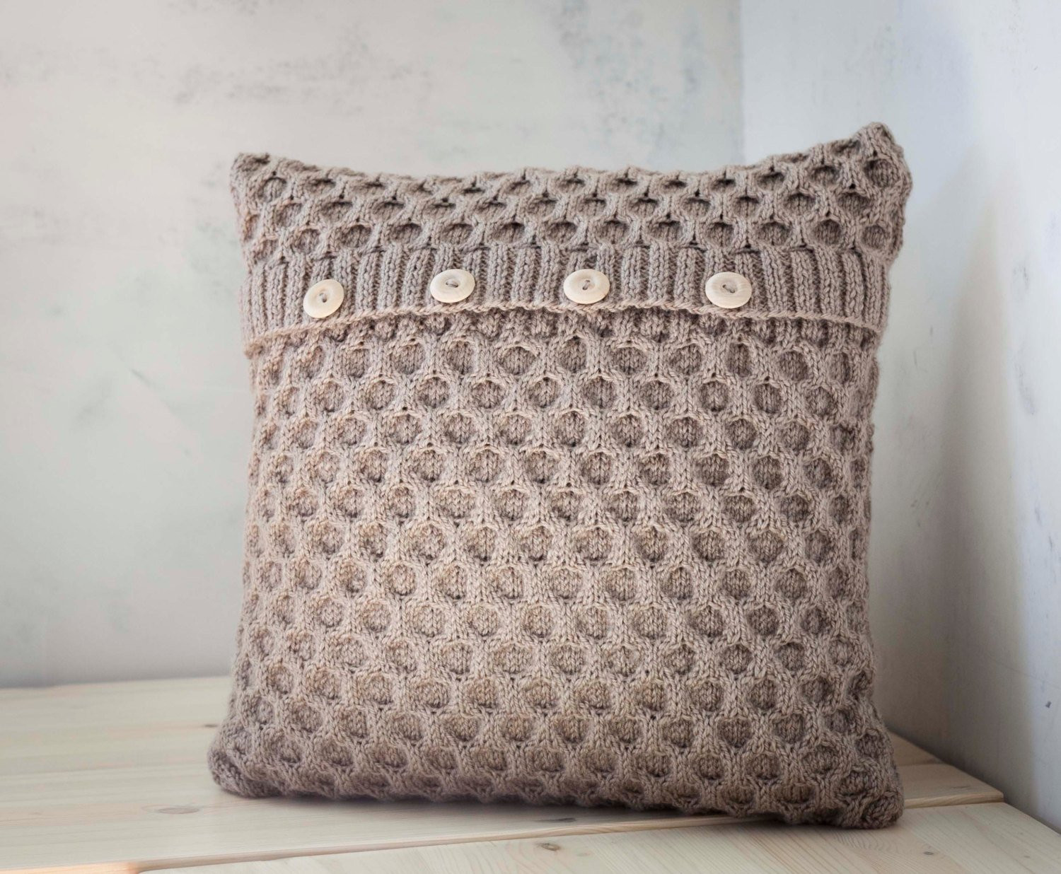 Cushion Patterns Luxury Hand Knitted Cushion Beige Waffle Pattern Pillow Cover with Of Lovely 43 Images Cushion Patterns