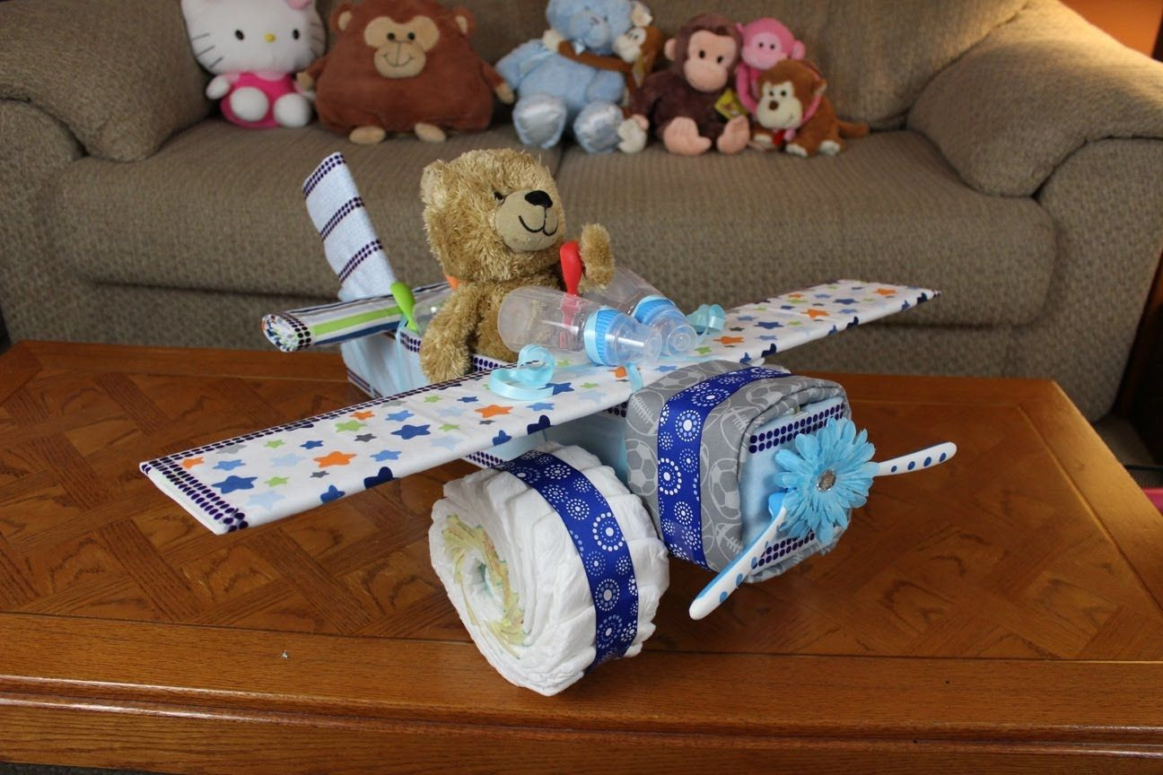 Diaper Cakes for Boys Awesome Boys Airplane Diaper Cake Of Brilliant 46 Photos Diaper Cakes for Boys