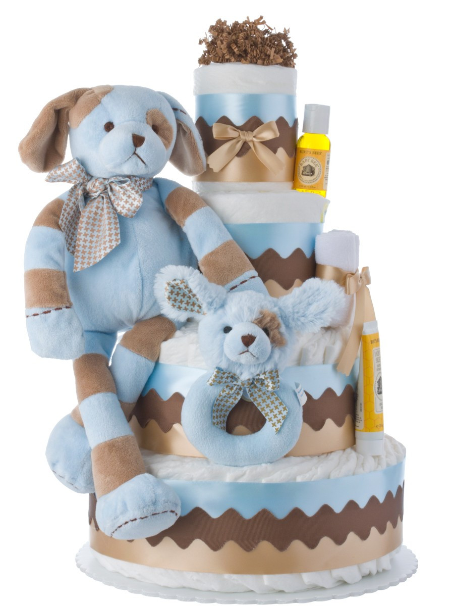 Diaper Cakes for Boys Beautiful Barker Diaper Cake for Boys Diaper Cake Of Brilliant 46 Photos Diaper Cakes for Boys