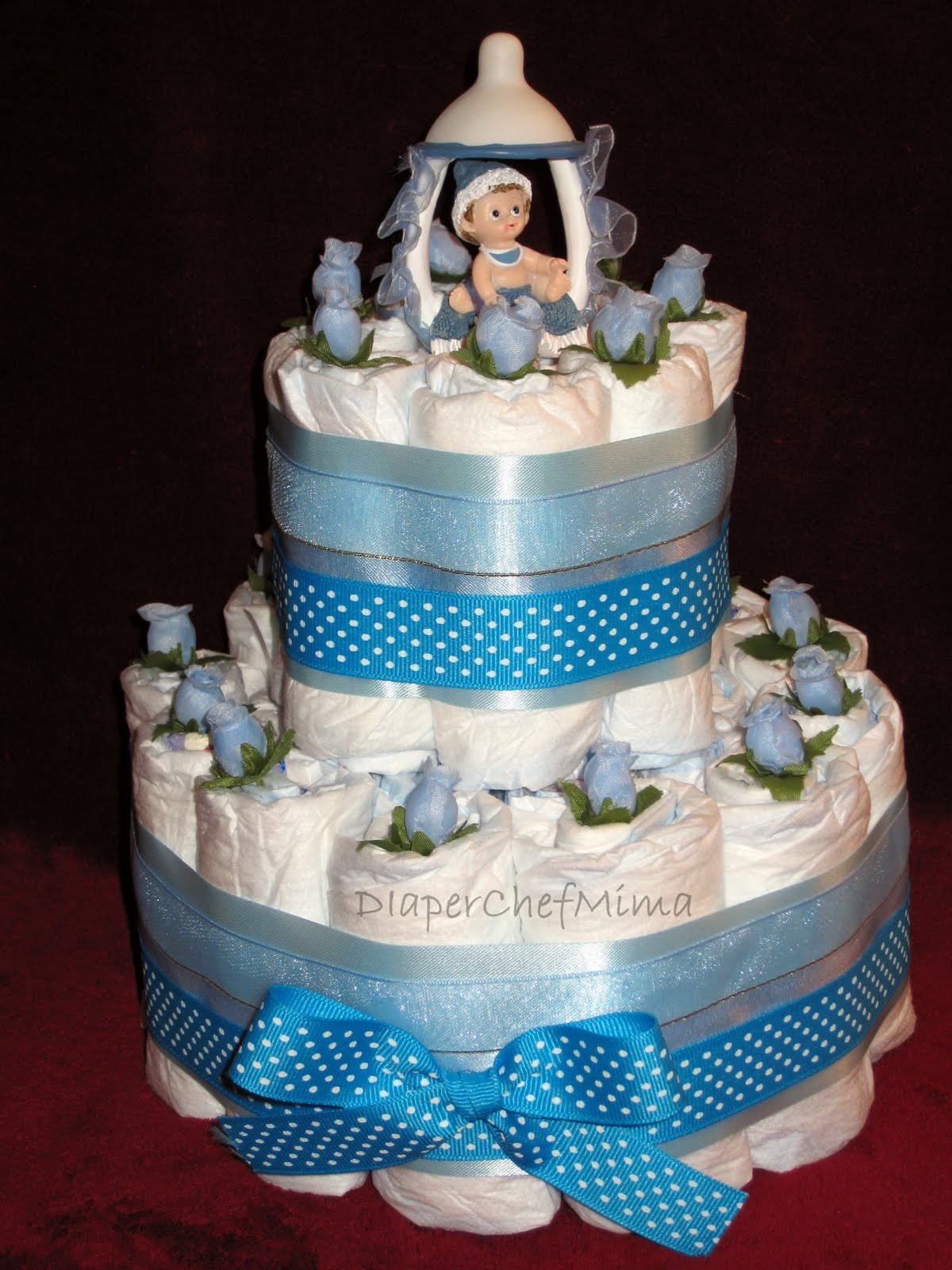 Diaper Cakes for Boys Beautiful Diaper Chef Mima Baby Shower Diaper Cake Centerpieces Of Brilliant 46 Photos Diaper Cakes for Boys