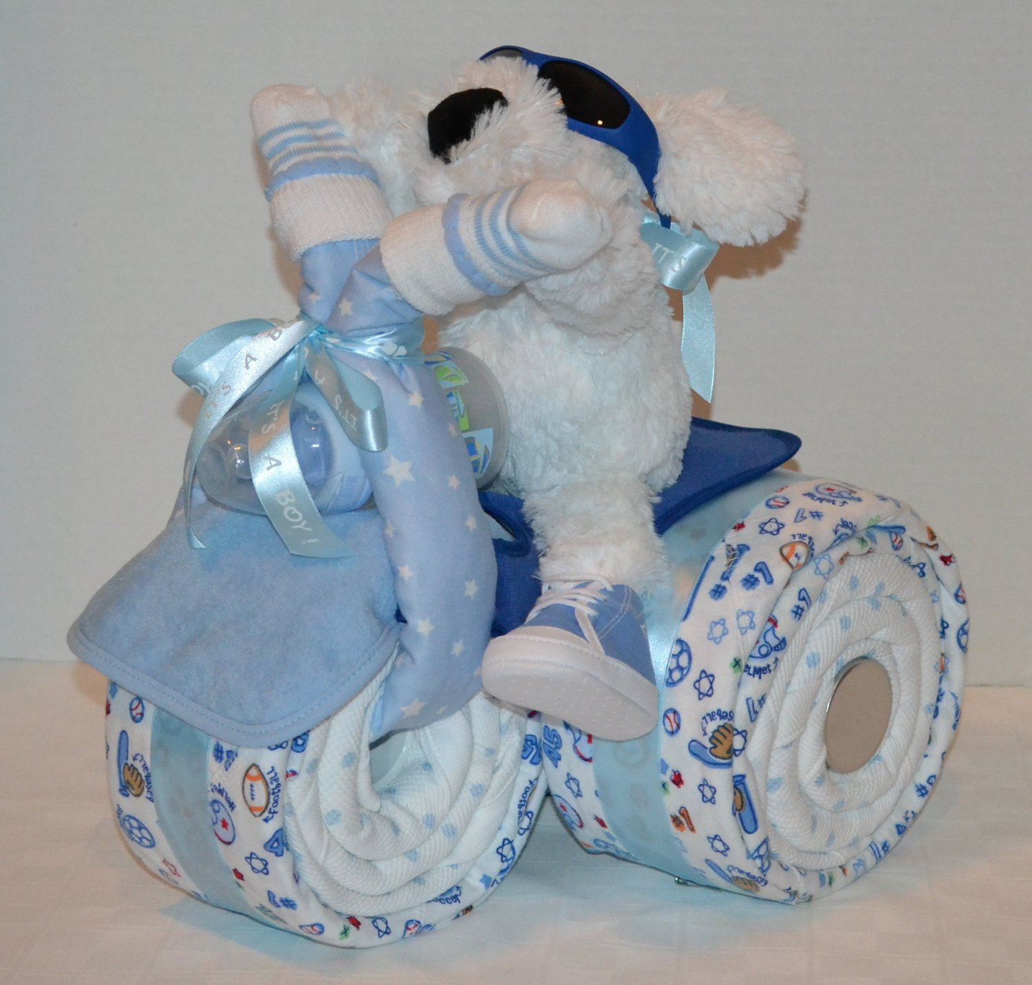 Diaper Cakes for Boys Beautiful Tricycle Trike Diaper Cake Baby Shower Gift Sports theme Of Brilliant 46 Photos Diaper Cakes for Boys