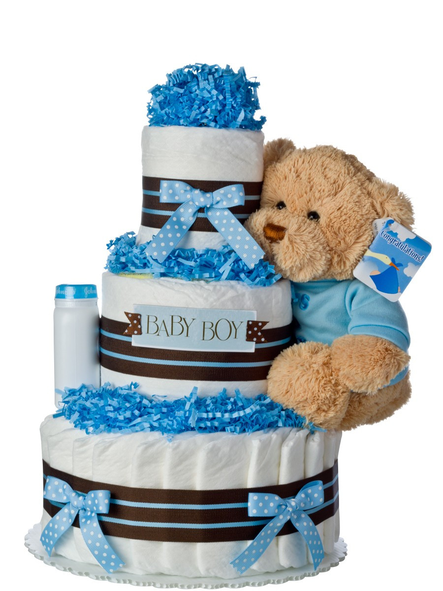 Our Lil Darling Boy Diaper Cake